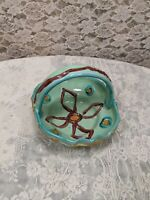 Vintage Hand Painted Candy Dish Trinket Dish Made In Italy Signed