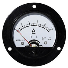 10A ANALOGUE AMMETER ROUND FOR 65MM HOLE BUILT-IN SHUNT SOLAR WIND ANALOG
