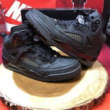 NikeiD Nike Air Jordan Spizike Black Cat Cement Custom 605236 991 Size 10.5 III