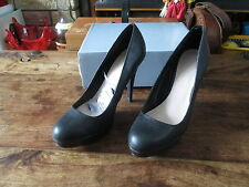 SOUTH LADIES COURT SHOES PLATFORM BLACK FAUX LEATHER SIZE 6 BRAND NEW IN BOX