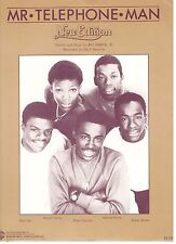 """NEW EDITION """"MR. TELEPHONE MAN"""" PIANO/VOCAL/GUITAR W/CHORDS SHEET MUSIC-1985-NEW"""