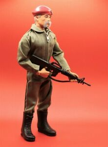 Vintage Action Man Repro SAS M16 Black with rubber strap 1/6th Scale Toy