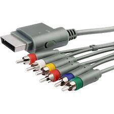 100 Original Microsoft Xbox 360 HD TV AV RCA Component Cable Lead Cord 2.5m
