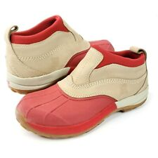 L.L.Bean Womens Sz 10M Red Classic Low Duck Slip On Waterproof Ankle Boots Shoes