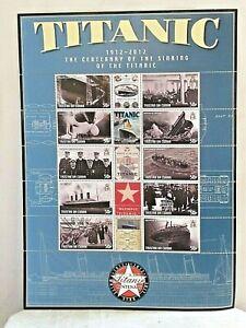 TITANIC ~ TRISTAN DA CUNHA  ~ Sheet of 10 Stamps ~ 1997 ~ MNH ~ 2012 ~ MNH