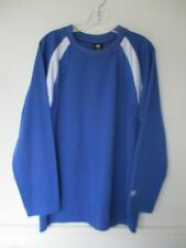 Game Men's Size M Medium Solid Blue Long Sleeve T-Shirt