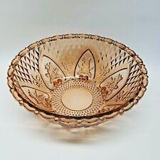 """Vintage Depression Glass, FRUIT / SALAD BOWL, Rose - Amber, 10¼"""" diameter"""