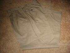 Mens Tan BROOKS BROTHERS Lined Wool Dress Pants 36 x 30