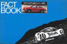 """Mint Original! 1969 """"Porsche Facts"""" 911 Sales Brochure  28 Pages!"""