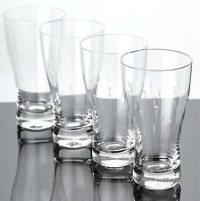 4 Rosenthal Becher Gläser zart Linsen Linien Gravur Schliff ~ 50er - 60er Jahre