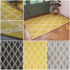 Modern Moroccan Trellis Rug Small Large Flatweave Rugs Long Cotton Hall Runners