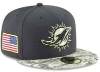 BRAND NEW MIAMI DOLPHINS 2016 NEW ERA NFL SALUTE TO SERVICE 59FIFTY FITTED HAT