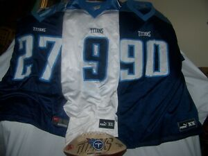 NFL Tennessee Titans Legend Jerseys George, McNair, Kearse, Ltd Ed 1999 Football