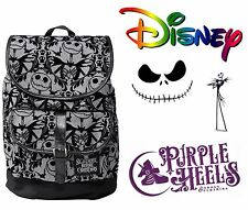 Disney Nightmare Before Christmas Pumpkin King Velvet Embossed Slouch Backpack