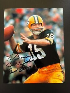 Bart Starr Signed 8x10 Photo NFL HOF Green Bay Packers Autograph