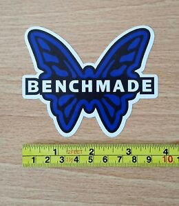 """TWO (2) BENCHMADE FADE RESISTANT 3.75"""" x 3.25 VINYL DECAL STICKERS EMERSON KNIFE"""