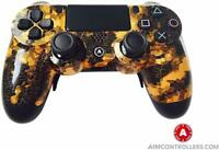 PS4 Slim DualShock Custom AimControllers Digi Camo Gold with 4 Paddles!!!