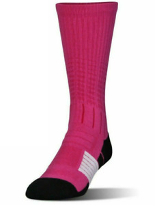 New Under Armour Football Socks Men's Large One Pair Crew Length Rival Pink