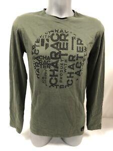 T-Shirt Long-Sleeved Man Garcia 100% Cotton Green New