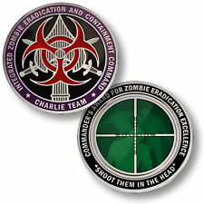 Charlie Team Zombie Eradication and Containment Command coin
