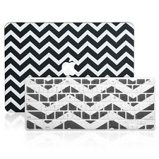"Matte Chevron BLACK Hard Case + Keyboard Cover for Macbook Pro 13"" A1278"