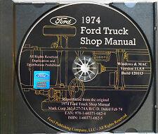 1974 FORD BRONCO ECONOLINE CLUB WAGON COURIER BIG TRUCKS SHOP SERVICE MANUAL CD
