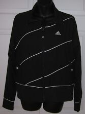 Adidas Womens Black w/White Zip-up Jacket Large