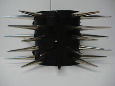 LEATHER SPIKED BRACELET. DEATH METAL (MDLB0208)..... EXHUMED