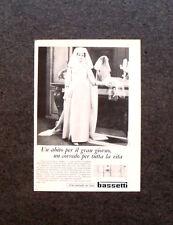 M486- Advertising Pubblicità -1960-  BASSETTI ABITO PER IL GRAN GIORNO
