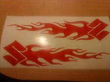 flames vinyl decals graphics sticker x2 tank, forks,helmet,motorbike car motogp