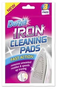 3 Iron Cleaner Cleaning Pads Soleplate Removes Burnt Residue Adds