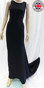 WOMENS PROM DRESS SLEEVELESS BALL COCKTAIL PARTY FORMAL EVENING GOWN MADE IN UK