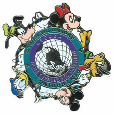 Disney Pin 64868 WDW PTU Event 2008 Partners Mickey Donald Goofy Minnie Pluto LE