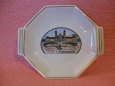 Hertel Jacob Einsiedeln White Gold Trim Ceramic Dish Souvenir Pin Dish
