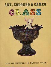 Victorian Art Glass ID -Cameo Carnival Peach Blow MOP Amberina Aurene Etc / Book