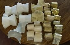Lot of 25 Rolls Ribbon- Golds & Ivory- Wedding, Birthdays, Anniversary, Party