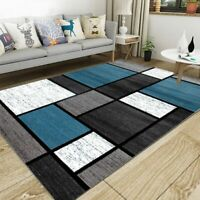 Nordic Geometric Floor Mat Living Room Anti-slip Area Rug Bedroom Thicken Carpet