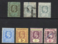 Northern Nigeria Part Set of Seven Stamps MM & Used c1910-11 (1686)
