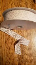 """Vintage lace, crafts 1"""" Ivory 10 yards, trims, sewing, finishes, Lot 2"""