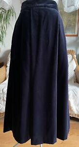 Vintage Laura Ashley Dark Purple Velvet Midi Skirt Boho