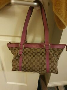 Authentic Gucci vintage large monogramme shoulder shopper bag