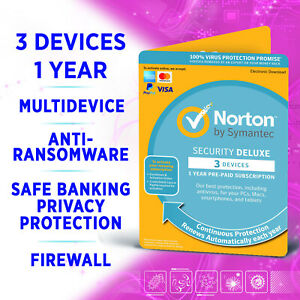 Norton Security Deluxe 2021 3 Devices 1 Year Multidevice
