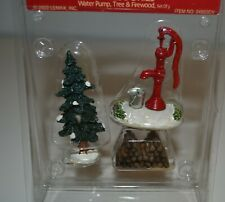 Village Collection, Water Pump, Tree & Firewood, Lemax