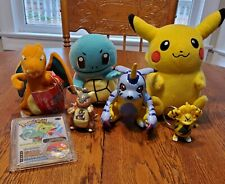 *Pokemon Toy Lot. 3 Plushes, 2 Key Chains, Toy, Vitial Stat.