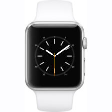 NEW APPLE WATCH SERIES 1 42MM SILVER ALUMINUM CASE WHITE SPORT BAND