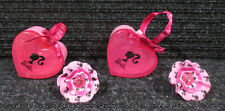 Barbie / (2) Mattel Heart Shaped Jewelry Keepers & Rings / 2009 McDonald's