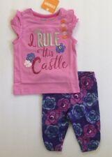 Nwt Gymboree Eiffel Flowers Castle Tee Top Capri Leggings Outfit Set 12 18 month