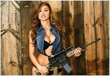 ANA CHERI w/ AR15 GUNS & GIRLS GIANT POSTER ar-15 magpul bushmaster dpms colt hk