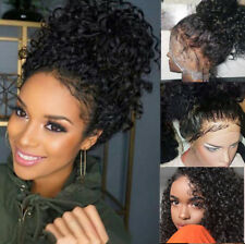 Curly Brazilian Virgin Human Hair Lace Front Wig Full Wigs with Baby Hair