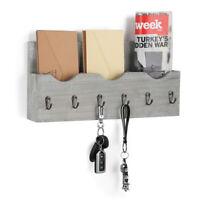 Key Box Rack Letter Organizer Wall Mail Holder Hooks Wood Mount Storage Box